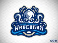 Wreckers Octopus Mascot Logo