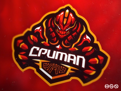 CPUMAN Robot Mascot Logo streamers logo twitch game gamers team logo logodesign vector mascot gaming logo branding simple illustration illustrator robot esports