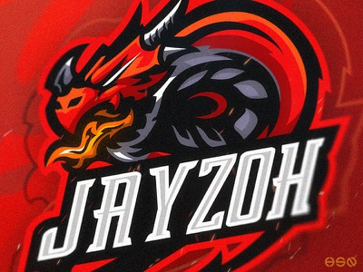 DRAGON Gaming Mascot Logo layoutdesign streamers sports twitch game gaming mascot bold design gamers team logo illustration gaming logo sportslogo logo dragon branding esports