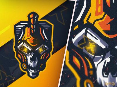 Cyber Spartan Skull web app sports icon ux gaming logo logodesign design cool gamers twitch bold branding gaming mascot sportslogo logo illustration vector esports