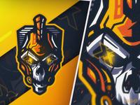 Cyber Spartan Skull