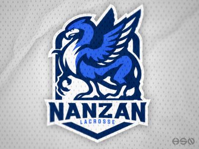 NANZAN Lacrosse   Griffin Mascot Logo