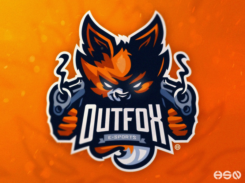 OUTFOX E-SPORTS orange logodesigns sports logo fox illustration gaming mascot sportslogo logo gaming logo illustration bold branding esports fox fox logo