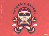 OUTBRAIN GARAGE Skull Logo