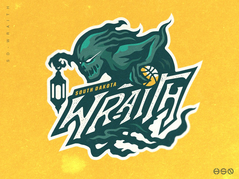 South Dakota Wraith Basketball Logo lettering typogaphy ux ui logodesign vector nba basketball logo gaming logo illustration bold branding esports