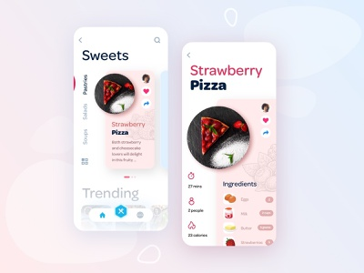 C27 Design System ios design ui ui design app design cooking ui cooking app app ui recipe app