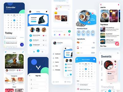 C27 Design System ui ui design app design design systems feed cooking app calendar app social app ui elements design system
