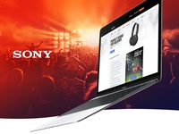 Sony Responsive training platform website
