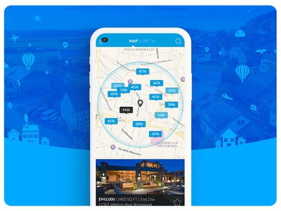 Real Estate App Design & Development responsive design ui design ux ui app design