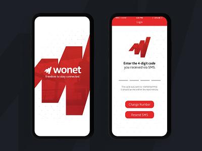 Telecommunications Projects: Wonet ui design ux design ios design ux ui ux design ui design app design
