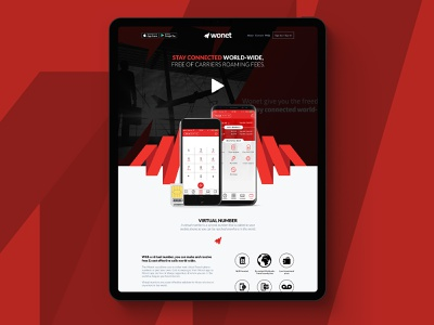Wonet communications app responsive design web design ui ux ux design ui design app design
