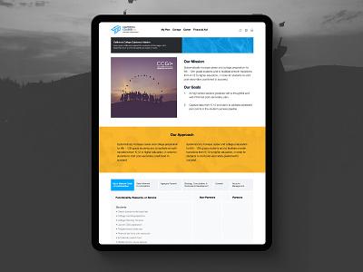 California Colleges Responsive Website responsive design web design ui ux design ui design