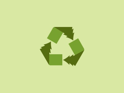 Recycling Trees recycle tree logo icon illustration