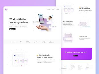 landing page for social media app website design web website illustration photoshop ux design sketch ux ui design interaction ui landing page