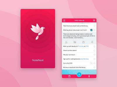 Note taking app application website landing page mobile design app sketch ux design ux ui design ui