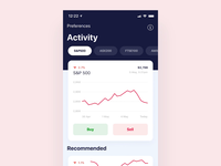 Finance app micro interactions finance stocks stock design graphics uxdesign figma mobile app ui principleapp uxui ux microinteraction micro interaction animation principle