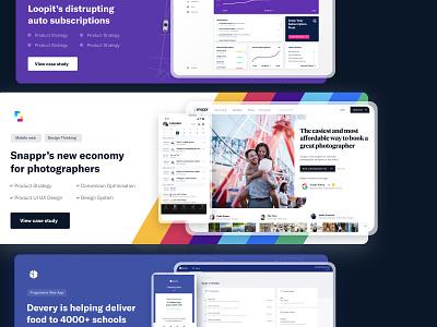 Case study tile design - site in description application landing page app sketch design ux design ui design interaction ux ui