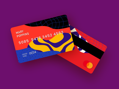 Card Design I banking cash money bank card card design card bank branding vector illustration design digital