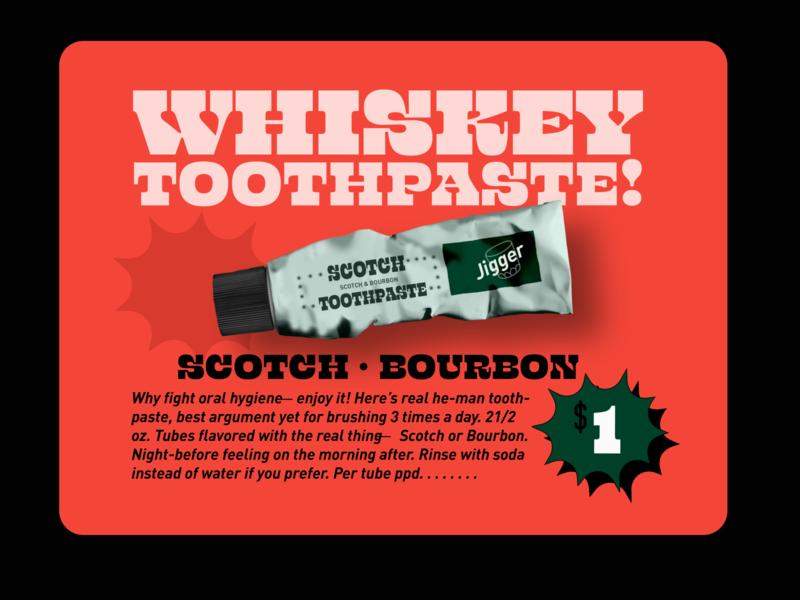 Whiskey Toothpaste vintage design vintage retro design retro typography design branding typography vector design digital