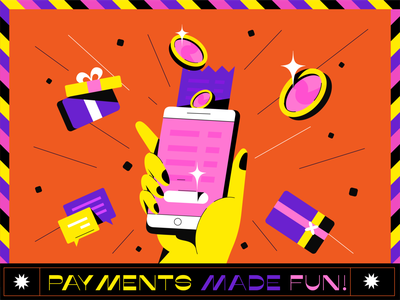 Mobile Payments! mobile app coin payment app payment cash money phone mobile typography design branding poster typography vector illustration design digital
