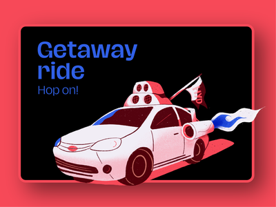 Getaway Ride procreate futuristic car branding vector typography illustration design digital