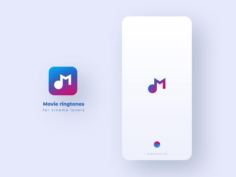 Movie Ringtones application ui design