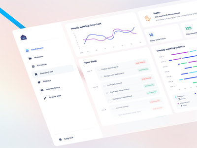 Dashboard of Work from home concept project timeline managment chart remote freelance ux iran ui dashboard ui panel dashboard