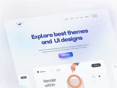 The Whale Themes UI Design themeforest design ux ui wordpress template theme