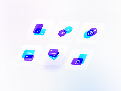 Shenase Icon set design gradient glassy tehran ux iran ui iconography iconset icon