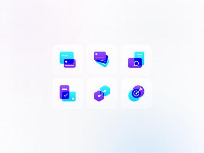 Shenase Icon set design gradient glassy tehran ux iran ui iconography iconset icon
