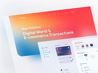 Shenase E-commerce Transaction Solutions landing vector tehran ux iran ui trend gradient e-commerce design solutions transaction e-commerce