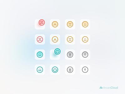 Arvan Cloud's icons fill and liner - Part 2 emoj arvan app design landing tehran ux iran ui