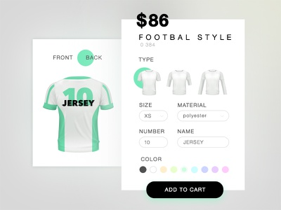 T-shirt maker order shop size sport ui clothes store cart t-shirt football