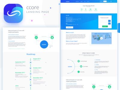 Ccore landing page