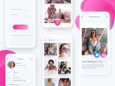 Pink Page IOS App
