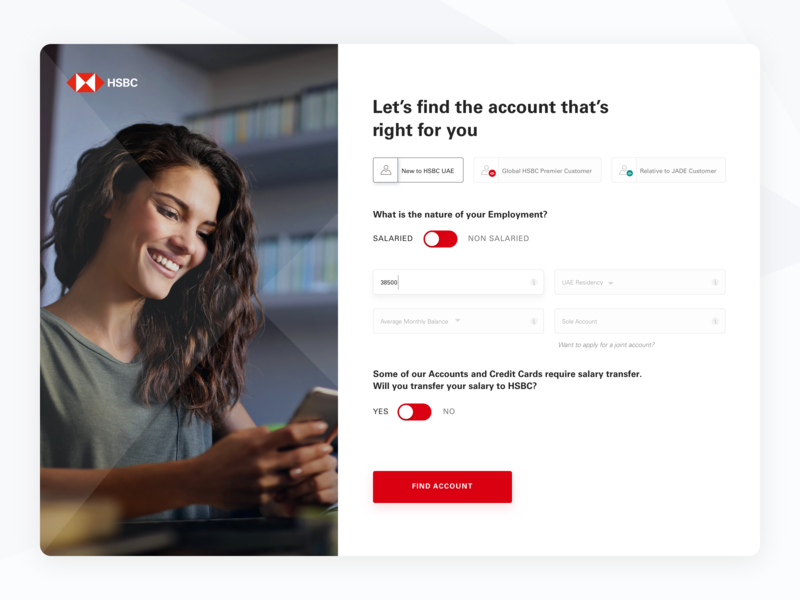 Open account in HSBC by Lucy on Dribbble