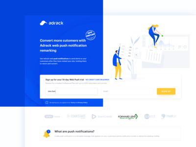 Adrack - Landing Page