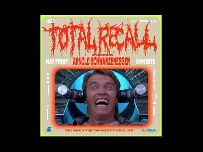 Arnold Poster Recall arnold movie illustration design type