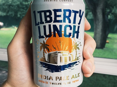 Liberty Lunch  illustration music craft beer wood cut austin type beer