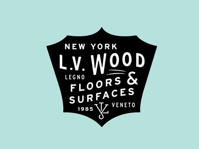 L.V Wood Logo nyc type old shield classic logo