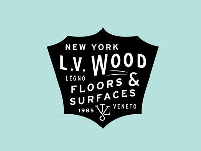 L.V Wood Logo - L.V Wood Logo By Matt Varner - Dribbble