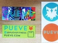 Pueve brand tags and stickers