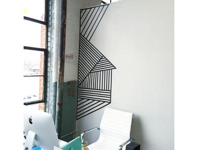 Stripes wall installation
