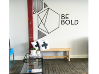 Be Bold Geometric Wall Installation