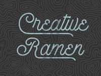 Creative Ramen Topographical treatment