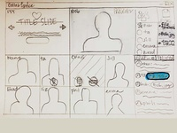 CollabSpace UI process sketch