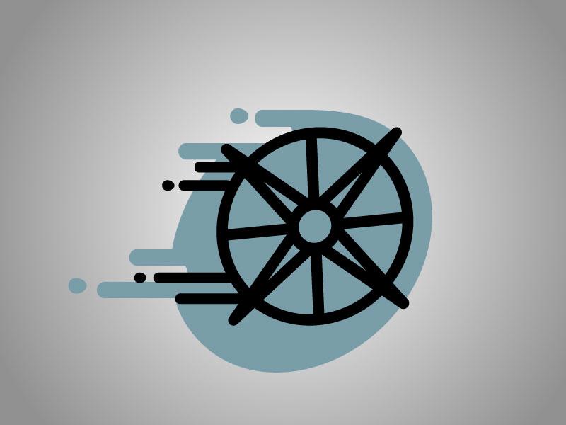Seek flow Icon seek water user brand branding icon-design icon flow ux compass
