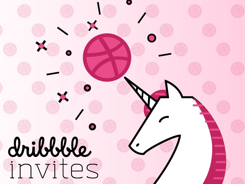 Dribbble Invites unicorn dribbble dribbble-invites