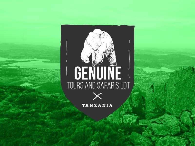 Genuine Tours and Safaris africa company bear tanzania logo tours safari