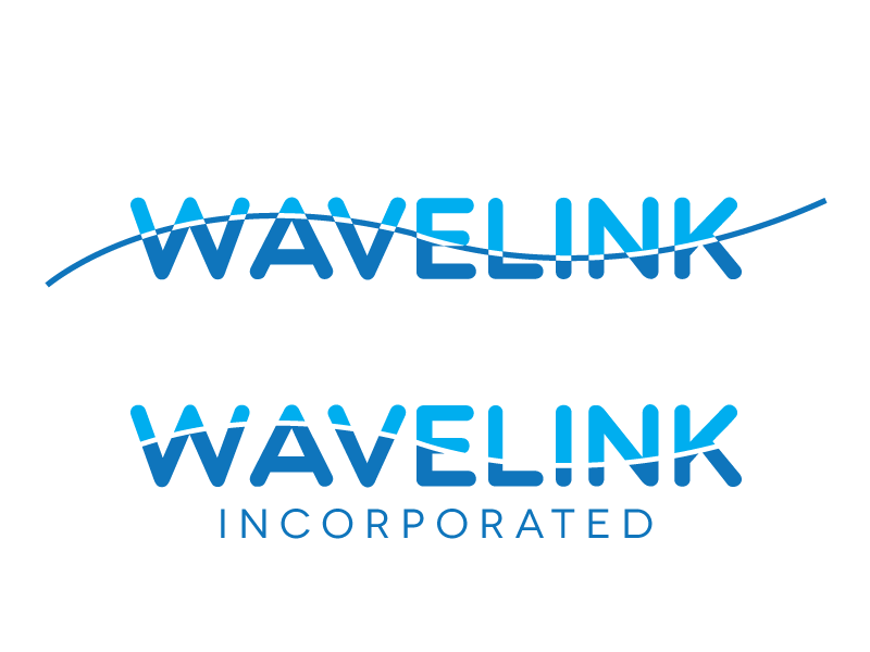 Process shot for Wavelink Inc contract government branding wavelength wave length wave logo